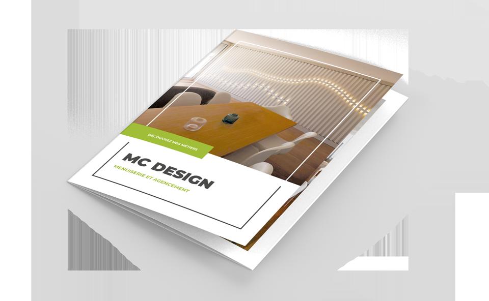Plaquette commerciale de MC Design