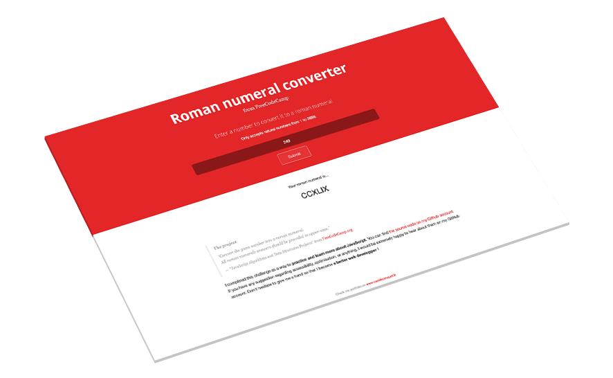 Projet JavaScript d'un convertisseur de chiffres romains